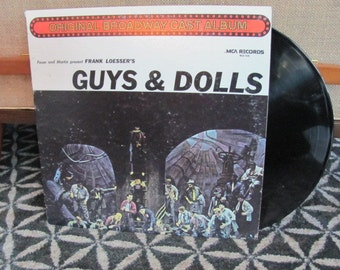 "Vintage ""Guys and Dolls"" Original Broadway Cast Vinyl Record Album - 1960 - Musical"