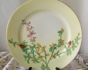 Antique Decorative Plate Charles Field Haviland ca 1876 Hand Painted CFH Wall Hanging Kitchen Display Plate