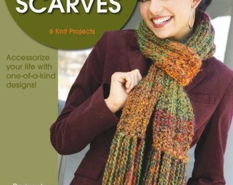 All Occasion Scarves - Leisure Arts Knitting Pattern - Scarf Knitting Patterns - Scarves Knitting Pattern
