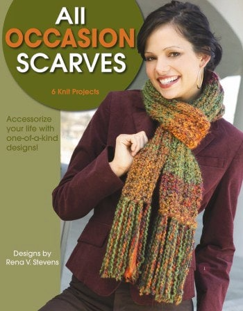 all occasion scarves leisure arts knitting pattern scarf