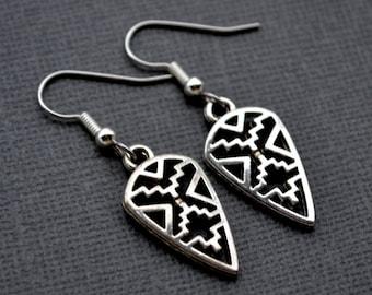 Silver Arrows . Earrings