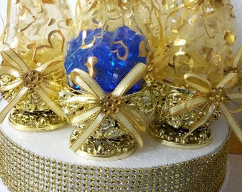 12 new royal rose gold favor baskets royal prince baby shower theme and party favor