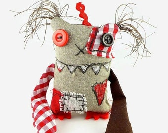 Personalized Monster Doll, Monster Toy, Unusual Gift, Cool Gift, Funny Gift for Men, Toy Monster, Halloween Gift, Fun Gift, Art Doll