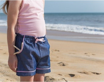 Beachcomber Shorts: Kids shorts PDF sewing pattern