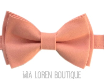 Peach Bow Tie, Adults & Children, Made in the USA, save 10% off 5 or more, use code TENOFF5 at checkout!