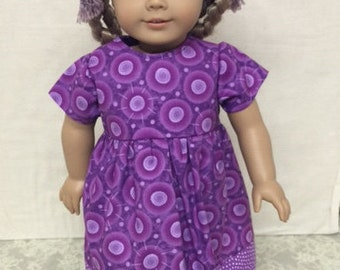 "Purple Doll Dress fits 18"" American Girl Doll"