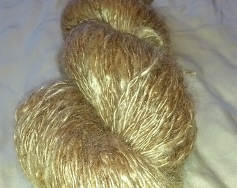 Hand spun Kid Mohair 8 ply yarn
