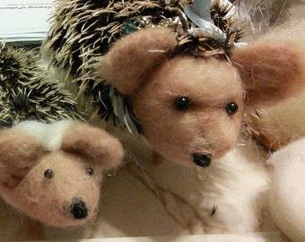 Needle Felted Hedgehog Family, Needle Felted Animals,