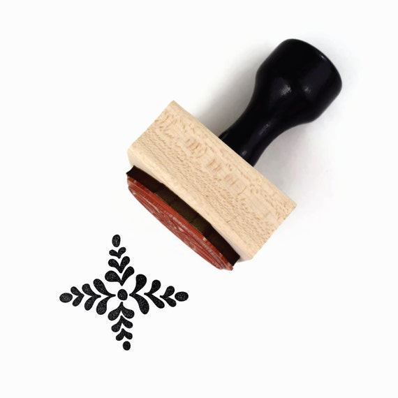 Rubber Stamp Four Point Scandinavian Pattern #2 - Hand Drawn Geometric Pattern Stamp