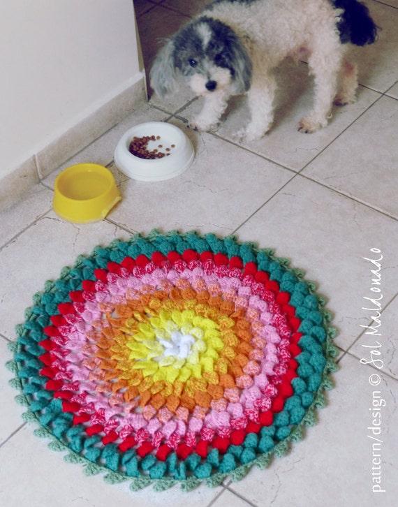Crochet Pattern Rug PDF - Pets or Decor Round Comfy Carpet Photo tutorial - Instant DOWNLOAD