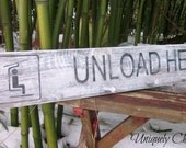 Ski UNLOAD HERE SIGN~ Cabin Lodge~Gift for Skier~Coat Rack~Towel Rack