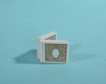 Vintage 1950s Book Ring Box - Plastic Proposal - 1960s Wedding Engagement