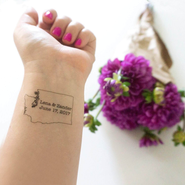 Washington tattoo temporary tattoo washington wedding for Washington state tattoos