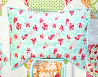 Extra Large Twin Size Quilt and Pillow Sham - Hello Darling Fabric Collection - XL Twin Quilt