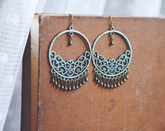boho teardrop chandelier earrings.