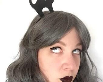 Gothic Cat Headband - Halloween