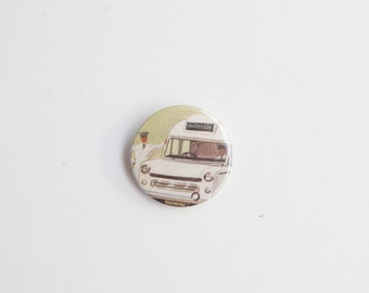 Ambulance Driver - A Badge or Pinback Button made from a Vintage Ladybird Book, 38mm 1.5 Inches
