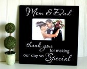Wedding Picture Frame/Gift for Parents/Wedding Photo Frame/Thank You Wedding Frame