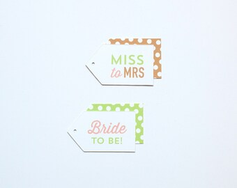 Bridal Shower Gift Tags - 18 pack