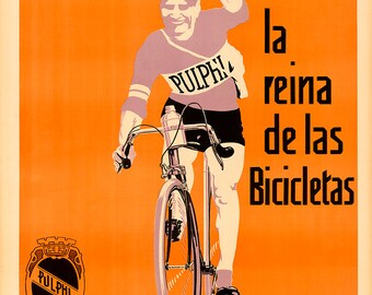 Pulphi Bicycle Poster (#0211) 6 sizes
