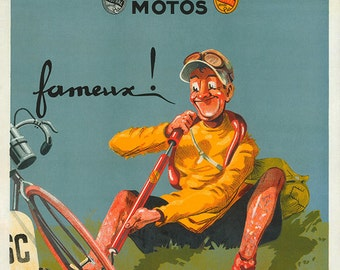 Pompes Mistral Bicycle Poster (#0134) 6 sizes