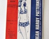 1970s Bikini Pattern Jean Hardy 210 Super Simple Womens Two Piece Swimsuit Bathing Suit Sewing Pattern Misses Sizes 6-16 UNCUT