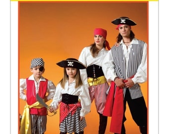 McCall's Pattern M4952 Children's Pirate Costumes Sizes 3-8 NEW