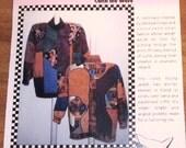 Catch the Wave Jacket Boho Curve Pieced Womens Misses Vintage Paw Prints Sewing Pattern 009 Size XS-XXXL 6-32 Bust 30-54 Uncut Factory Fold
