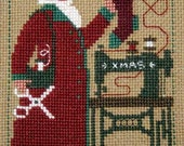 2006 Schooler Santa INCLUDES needles : Prairie Schooler counted cross stitch patterns December Christmas sewing Santa Claus prim embroidery