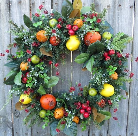 Christmas Wreath Williamsburg Style Christmas By Hornshandmade
