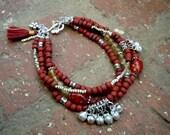 Bohemian Bracelet / Gypsy Bracelet / Gypsy Jewelry / Boho Chic / Multi Strand Bracelet / Woman Bracelet / Bohemian Jewelry /  Yoga Bracelet