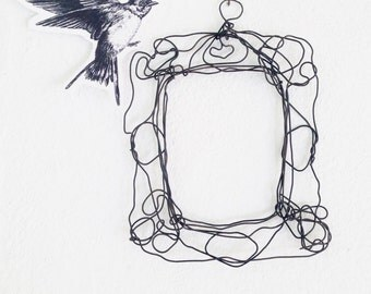 Wire wall frame - metal lace frame - unique gift - Wire sculpture - Wedding decoration