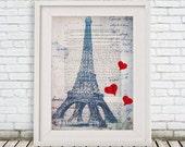Eiffel Tower Print, Eiffel Tower Charm, Eiffel Tower Decor, Paris Decor, Paris Wall Art, Paris Art, Paris Love, Eiffel Tower Painting