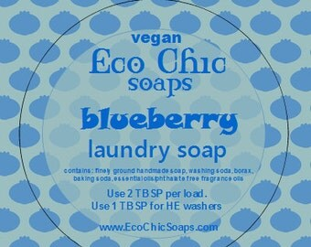 Blueberry Laundry Soap - Natural laundry soap with Blueberry Fragrance - Vegan laundry soap