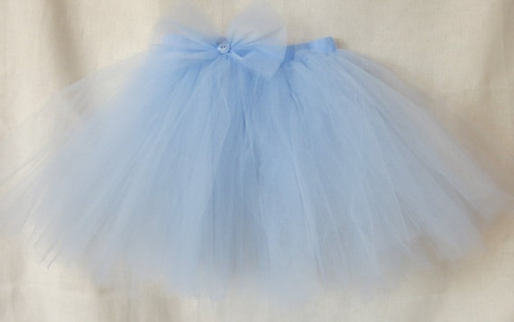 light blue tulle tutu skirt baby blue tutu with bow