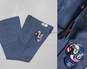 "30"" x 30"" | Vintage Bell Bottoms Washington Rappers Denim Jeans Deadstock"
