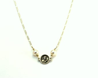 Rose Necklace - St Therese Necklace - Birthstone Necklace - Sterling Silver Necklace - Made in the USA