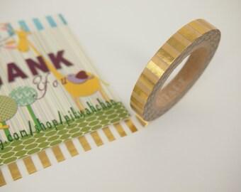 Golden Stripe Washi Tape (8mm X 10M)