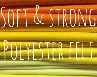 Polyester Felt - 51 colours - Soft and Strong - EN71 tested