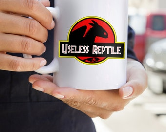 Toothless How To Train Your Dragon Useless Reptile Jurassic Park Logo Drinking Mug