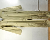 Vintage Mens Military Flight Suit Pilot Uniform Coveralls Jumpsuit Workwear Overalls 2XL XXLarge Big Tall Man Menswear