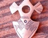 Niger  Tuareg cross charm hand engraved small pendant (J)