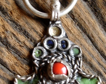 Moroccan fibula enamel pendant (11)