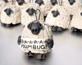 B-a-a-a-h Humbug Sheep Ornament Bell for your home or Christmas tree
