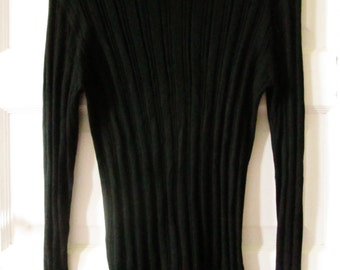 Hermes Black Cashmere Sweater Made in Italy XL