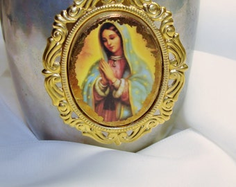 Our Lady of Guadalupe art print artisan pendant diy jewelry making by Pamelia Designs *religious* Sacred Jewelry