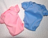 15 in. Boy & Girl Onesies - Pink and Blue