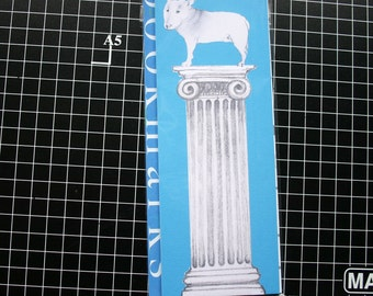 English Bull Terrier Bookmarks Set Classical Column Neoclassical