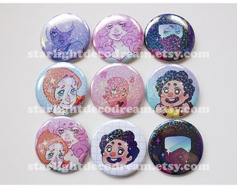 Steven Universe Sparkly Button for Fairy Kei, Mahou Kei, Magical Girl Fashion