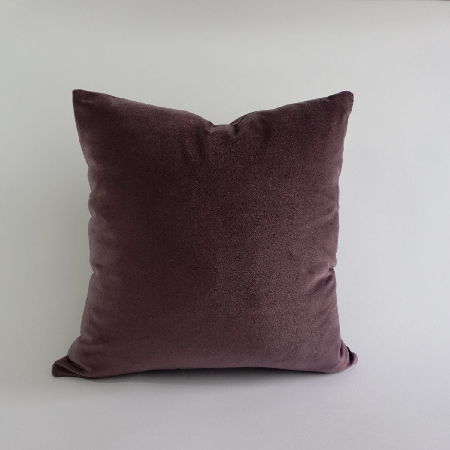 English Lavender Cotton Velvet Pillow Cover- Decorative Accent Throw Pillows -Invisible Zipper ...